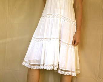 white cotton & lace dress