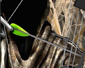 Bow Reaper Tallgrass Duck Camo LAMINATED Cornhole Wrap Bag Toss Decal Baggo Skin Sticker Wraps