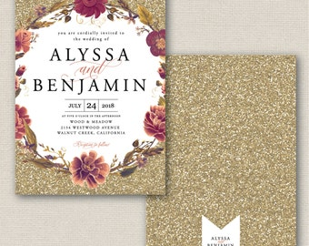Alyssa & Benjamin Wedding Invitation