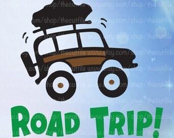 Road Trip svg, Adventure Vacation clip art, vinyl vector cut file, jeep svg, dxf for silhouette, heat transfer design