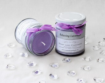 Handmade Lavender Scented  Soy Candle - Home,Gift,Garden