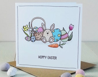 Easter Bunny, Personalised Card