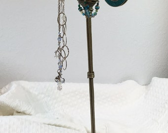 Jewelry Valet - Upcycled Organizer for Necklaces & More - Twisted Wire