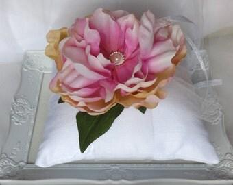 Ring Bearer Pillow , Wedding Ring Pillow, Silk Ring Pillow, Ring Pillow, Flower Ring Pillow - KIARA