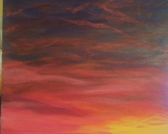 Cape Cod Beach Sunset Painting