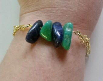 Sodalite and Aventurine Bracelet