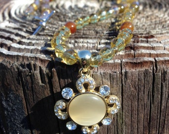 Sunburst Medallion Necklace