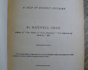"""Book, """"In the Heart of the Storm: A Tale of Modern Chivalry"""" by Maxell Gray, 1896, F.M. Lupton Publishing Company"""