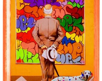Rockwell dalmata(Fine art photography.) Street art. Graffiti.Fotomontaje.Norman Rockwell.Jackson Pollock.Dalmata.Pop.Surrealismo.Calle.Calvo.)
