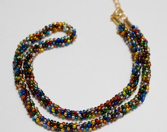 Multicolor kumihimo necklace