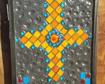 Orange Cross mosaic