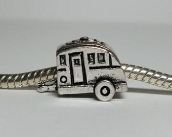 Silver Camper Charm for European Bracelets (item 235)
