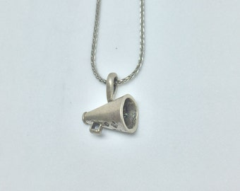 Megaphone Silver 925 Charm Vintage, Item 22- Free Shipping within USA