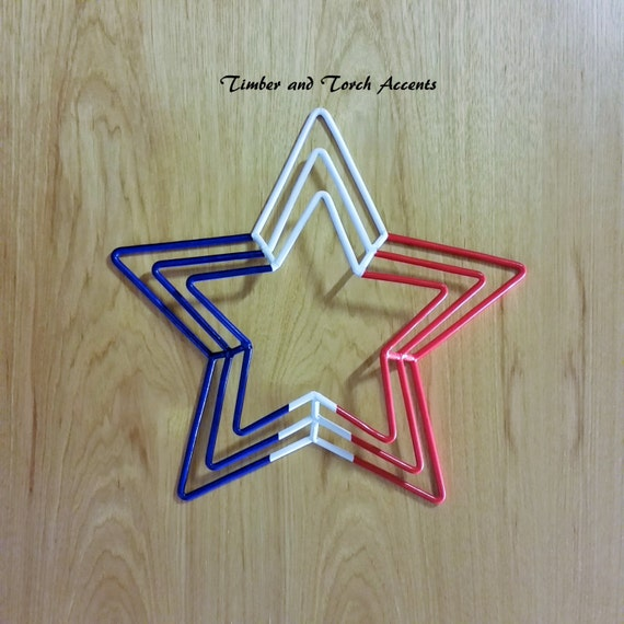 Blue Star Wall Decor : Items similar to d metal stars and stripes wall