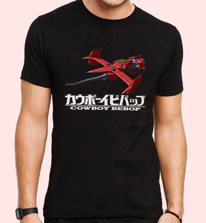 cowboy bebop swordfish spaceship anime inspired tshirt male