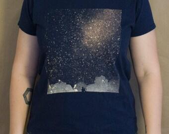 Stargazer T-Shirt Bleach Design Women's Shirt -original design -stargazer design -bleach t-shirt -stargazer shirt - stargazer bleach design