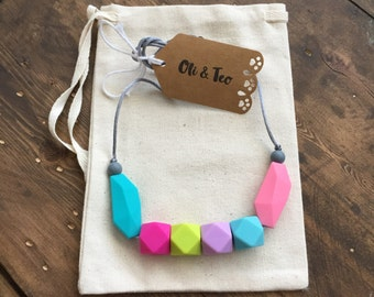Teething necklace for mom, Playful, baby teether, BPA free