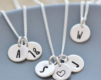 Sterling Silver Intial, Number Or Symbol Necklace
