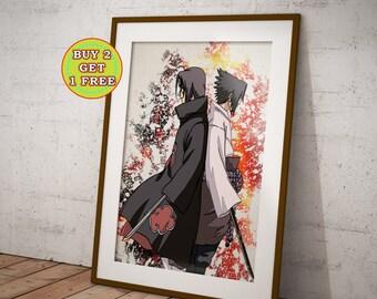 Sasuke And itachi, Brothers, Anime, Naruto Poster, Naruto Gifts, Naruto Shippuuden, Anime Poster, Anime Prints,Uchiha, Rinnegan,OC-396