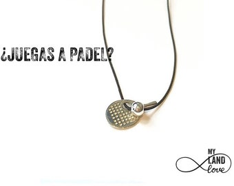 Paddle tennis NECKLACE in silver