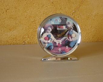Reveil mécanique Wallace et Gromit . Working.  Démons et merveilles. Vintage. France.