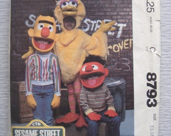 vintage McCalls SESAME STREET costumes sewing pattern