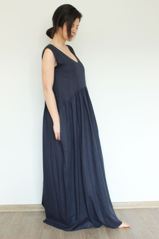 c38a626432a 1000 x 1500 www.etsy.com. Linen Dress Blue Linen Dress Summer linen dress  by .
