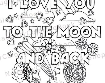 Anniversary coloring | Etsy
