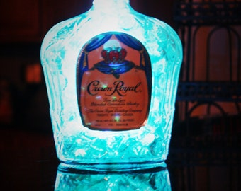 Crown Royal Bottle Lamp, crown royal light, liquor bottle lamp, liquor bottle light, gift for him, gift for her, man cave, fathers day gift