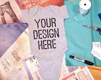 Custom Printed Onesie.  Your design on a onesie!