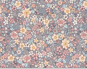 Floral patterned Fabric, Flower Fabric made in Korea by the Half Yard