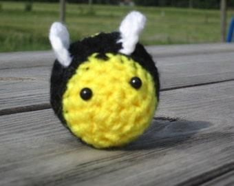 Crochet stuffed Bumblebee - Buzzy