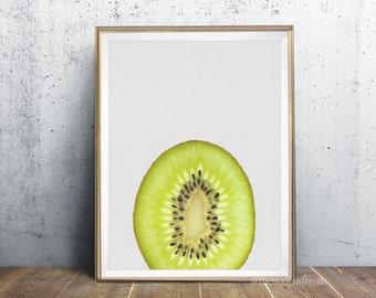 Kiwi Print, Kiwi Art, Kitchen Print, Kitchen Wall Decor, Minimalist, Modern Wall Art, Peekaboo, Printable Art, Photography Print, Wall Print