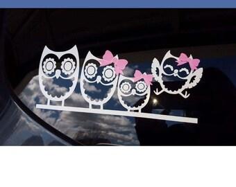 Owl family of four