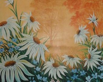 Robert Fox signed original oil painting daisies
