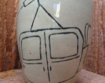 14 oz - Tram Handmade Ceramic Mug - Bmiz