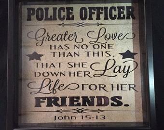 Police Officer Framed Hero Tile