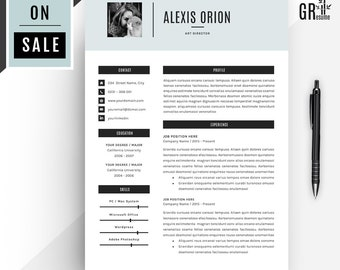 Modern Resume / CV Template for Word (US Letter and A4) 1 & 2 Page CV Template + Coverletter + References + Icon Pack