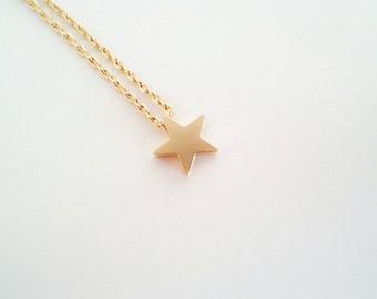 Star necklace, minimalist jewelry, gold necklace, gift for her