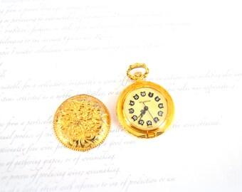 Vintage Ladies WOLBROOK Watch - Pocket Watch - France - Repairs Needed