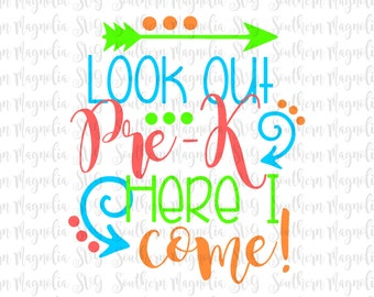 Pre K Quotes Fascinating Look Out Pre K  Etsy