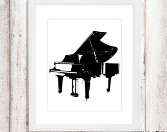 Piano wall art - piano nursery art -vintage piano wall art - piano wall decor - vintage piano wall print - piano home decor