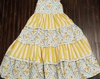 Layered maxi dress pattern