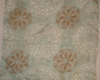 Sheer seafoam green fabric