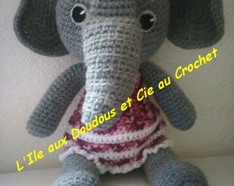 Kit tutorial french + wool for the little elephant