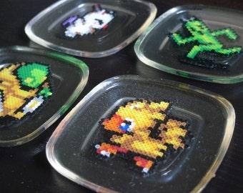 Final Fantasy Chocobo Cactuar Moogle Tonberry Perler Coaster Gamer Boyfriend Girlfriend Gift Nerdy Geeky Gift