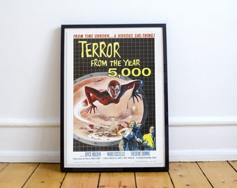 Vintage Movie Poster Print - 'Terror from the Year 5000'
