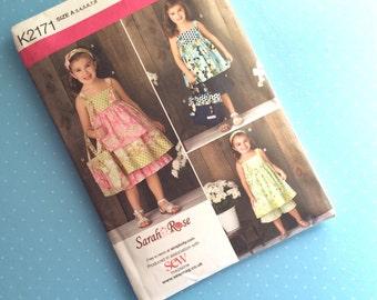 Children's Sewing Pattern - Simplicity K2171 - Little Girl Dressmaking Pattern - Toddler Dress Pattern