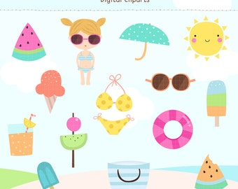Summer Fun Digital Cliparts