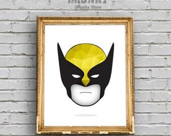 Wolverine, Art Print, Printable, Marvel Wall Art,Wolverine Poster,Wolverine Print,Boys Wall Decor,Wolverine Wall Art,Marvel Comics,Superhero